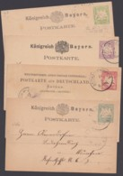 """""""Wappen"""", 4 Versch. Bedarfskarten, Auch Ins Ausland! - Bayern"""