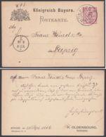 """P 30/01, Sauberer Bedarf, Zudruck """"Oldenbourg, München"""", 1886 - Bayern"""