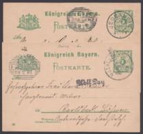 """P 56 II/02, 2 Bedarfskarten Nach Österreich Mit Ankunft, Dabei Bay. K 2 """"Jedesheim"""", 10.7.02 - Bayern"""
