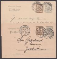 """P 74/03 + /04, Bedarfskarten, Je Versch. Stempel """"Zweibrücken"""" - Bayern"""