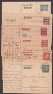 """6 Verschiedene Bedarfskarten """"Wappen"""" Und """"Aufdrucke"""" - Bayern"""