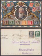 """PP 27 E 2/02 """"Luitpold-Portrait"""" Mit Briefmarken, Mit Zusatzfrankatur Gelaufen - Bayern"""