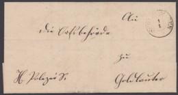 """""""Schleusingen"""", K2 Auf Dienstbrief, 1851 Nach Goldlauter - Preussen"""