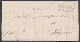 """""""Schleusingen"""", Dienstbrief Mit Inhalt, 1859 Nach Themar - Preussen"""