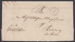 """""""Dresden"""", Dienstbrief Mit K 1 Und Inhalt, 1849 - Sachsen"""