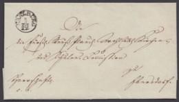 """""""Saalburg"""", K 1 Auf Briefhülle, 1838 - Thurn Und Taxis"""