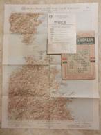 6) SASSARI TEMPIO PAUSANIA FOGLIO 33 CARTA D'ITALIA DEL TOURING CLUB COMPLETO DI INDICE E BUSTA - Cartes Topographiques