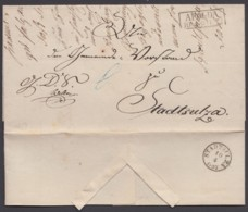 """""""Apolda"""", 1857, Dienstbrief Nach Stadtsulza Mit Kl. Taxis-K1 Als Ankunft - Thurn Und Taxis"""