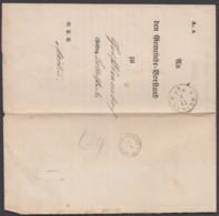 """""""Weimar"""", K1 Auf Gedr. Dienstbrief, 1864, Nach """"Buttelstedt"""" Mit Kl. Taxis-K1 Als Ankunft - Thurn Und Taxis"""