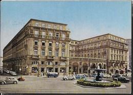 HOTEL FRANKFURT HOF- FRANKFURT AM MAIN -  ANIMATA - VIAGGIATA 1961 FRANCOBOLLO ASPORTATO - Alberghi & Ristoranti