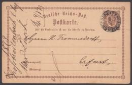 """""""Grossbreitenbach"""", Nachverwendeter K2 Auf DR P 1, 1873 Nach Erfurt - Thurn Und Taxis"""
