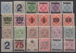 24 Versch. Werte, *, Falz - Wuerttemberg