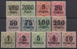 171/83, Infla-Aufdrucke, 1923, Alle *, Falz, Außer 173, Diese Gestempelt - Wuerttemberg