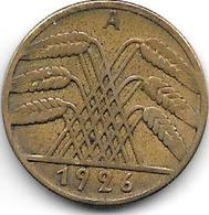 *germany  Weimar 10 Pfennig 1926 A    Km 40 Vf - [ 3] 1918-1933 : Weimar Republic