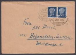 """Leizig-Hof"", Bahnpost, Bedarfsbrief Mit 2x 251, 13.12.50 - DDR"
