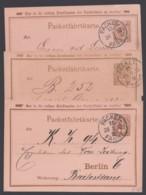 "Berlin : ""Packetfahrt"", 3 Karten, Bedarf Aus 1892/5 - Privatpost"