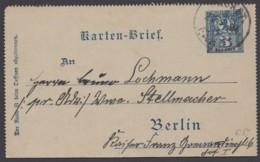 "Berlin : ""Packetfahrt"", Kartenbrief, Bedarf, 1894 - Privatpost"
