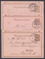 "Berlin : ""Packetfahrt"", 3 Bedarfskarten Aus 1894/5 - Privatpost"