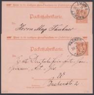 "Berlin : ""Packetfahrt"", 2 Bedarfskarten Aus 1900 - Privatpost"