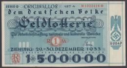 """Lotterielos"", NSDAP, 1933 - Deutschland"