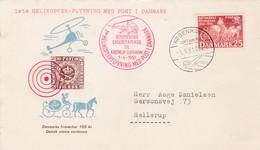 1er Vol Par Hélicoptère Kobenha Vers Hellerup 1951 1951 - Poste Aérienne