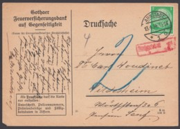 """515, EF Auf Drucksache Mit Nachgebühr """"Arnstadt"""", 13.4.34 - Deutschland"""