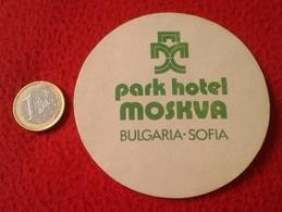 ANTIGUO POSAVASOS OLD COASTER MAT O SIMIL PARK HOTEL MOSKVA MOSCÚ ? BULGARIA SOFÍA VE FOTO Y DESCRIPCIÓN. HOTELES HOTELS - Portavasos
