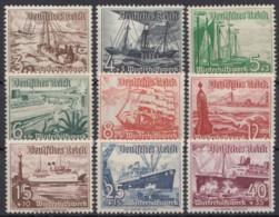 """651/9 """"WHW""""-Schiffe, 1937, **/*, Meist Kleiner Falzrest - Deutschland"""