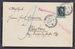 646, EF Auf Brief Nach Würzburg, Nachgebühr! - Deutschland