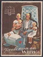 WHW 1937/8, Dek. Farbige Vignette Mit Kinderkrippe - Deutschland