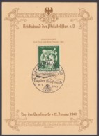 """762 """"Tag Der Briefmarke"""", 1942, Sonderkarte Mit Pass. ESst. """"Hamburg"""" - Deutschland"""