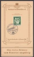 """762 """"Tag Der Briefmarke"""", 1942, Sonderkarte Mit Abschnitt,  Pass. ESst. """"Mühlhausen/Els."""" - Deutschland"""