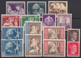 Aus 811/27, 9 Komplette Ausgaben Aus 1942, ** - Deutschland