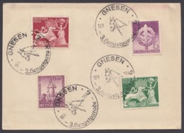 """816/9, Karte Mit Sst. """"Gnesen, 3.Hengstparade"""", 13.9.42 - Deutschland"""