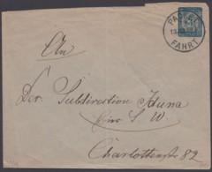 """Berlin : """"Packetfahrt"""", Ganzsachen Umschlag, Bedarf, 1886 - Privatpost"""