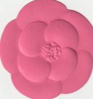 CHANEL  Saint VALENTIN  Camélia Rose - Cartes Parfumées