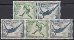 """W 104/5 """"Olympiade 1936"""", 2 Versch. Waag. ZD, ** - Zusammendrucke"""