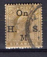 INDE ( SERVICE ) : Y&T  N° 44  TIMBRE  BIEN  OBLITERE . - 1858-79 Crown Colony