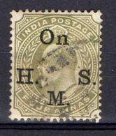 INDE ( SERVICE ) : Y&T  N° 43  TIMBRE  BIEN  OBLITERE . - 1858-79 Crown Colony