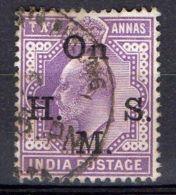 INDE ( SERVICE ) : Y&T  N° 42  TIMBRE  BIEN  OBLITERE . - 1858-79 Compañia Británica Y Gobierno De La Reina