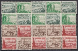 """Aus W 123/34 """"WHW-Schiffe"""", 1937, 8 Versch. Zusammendrucke, **/*, Teils 1 Marke Falz - Zusammendrucke"""
