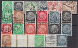 11 Verschiedene Zusammendrucke III.Reich, Alle Gestempelt - Zusammendrucke