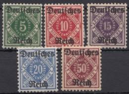 """52/6 """"Württemberg""""-Aufdrucke, *, Alle Falzrest - Dienstpost"""
