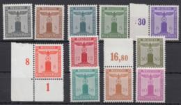"""155/65 """"Parteidienstmarken"""", Ohne Wasserzeichen, **/*, Teils Falz - Dienstpost"""