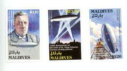 Maldives 1993-H Eckener,USS Macon,Zeppelin-YT 1708/10***MNH-Valeur 11 - Zeppelins