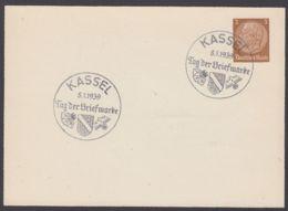 """PP 122 A 1, Sst. """"Kassel, Tag Der Briefmarke"""", 8.1.39 - Deutschland"""