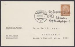 """PP 122 B 4/10 , Sst. """"Klagenfurt, NSV-Arbeit"""", 13.3.39 - Deutschland"""