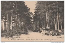 K14- 07) ENVIRONS DE VERNOUX (ARDECHE)  ROUTE DE GROZON - ALLEE DES PINS PRES CHABREYT - VERNOUX - (VOITURE - 2 SCANS) - Vernoux