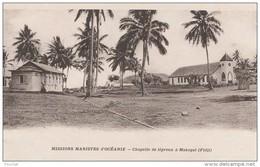 K30- MISSIONS MARISTES D'OCEANIE -  CHAPELLE DE LÉPREUX A MAKOGAÎ (FIDJI)  - (2 SCANS) - Fidji