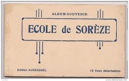 M18- 81) ECOLE DE SORÈZE (TARN) CARNET COMPLET DE 12 CPA - EDITION AUSSAGUEL - (3 SCANS) - France